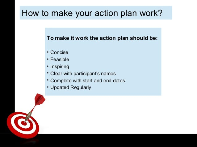 How to make a plan