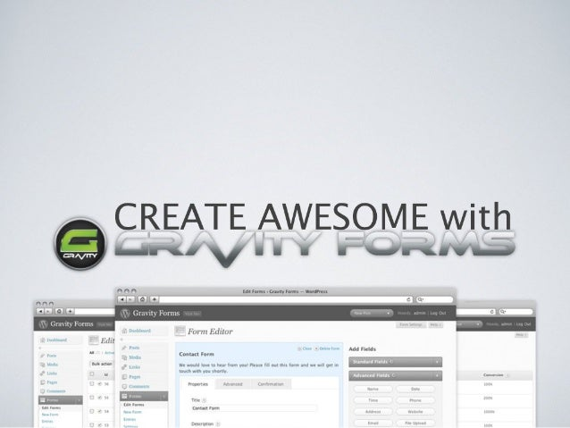 Create Awesome with Gravity Forms