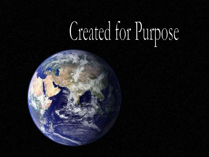 Created for Purpose