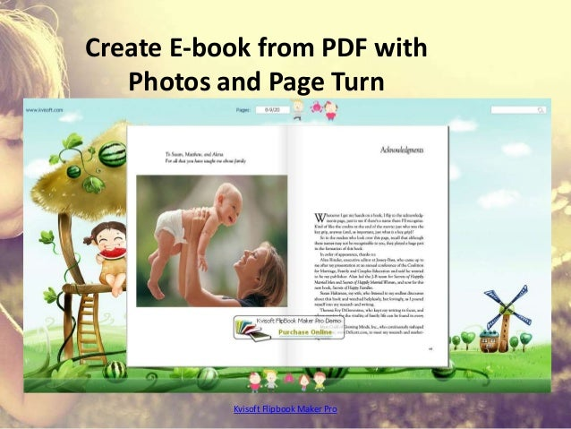 Create E-book from PDF with Photos and Page Turn