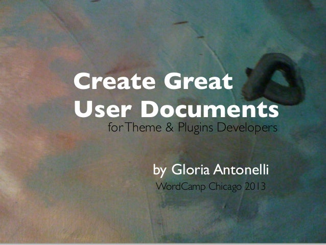 Create Great User Documents for Word Press
