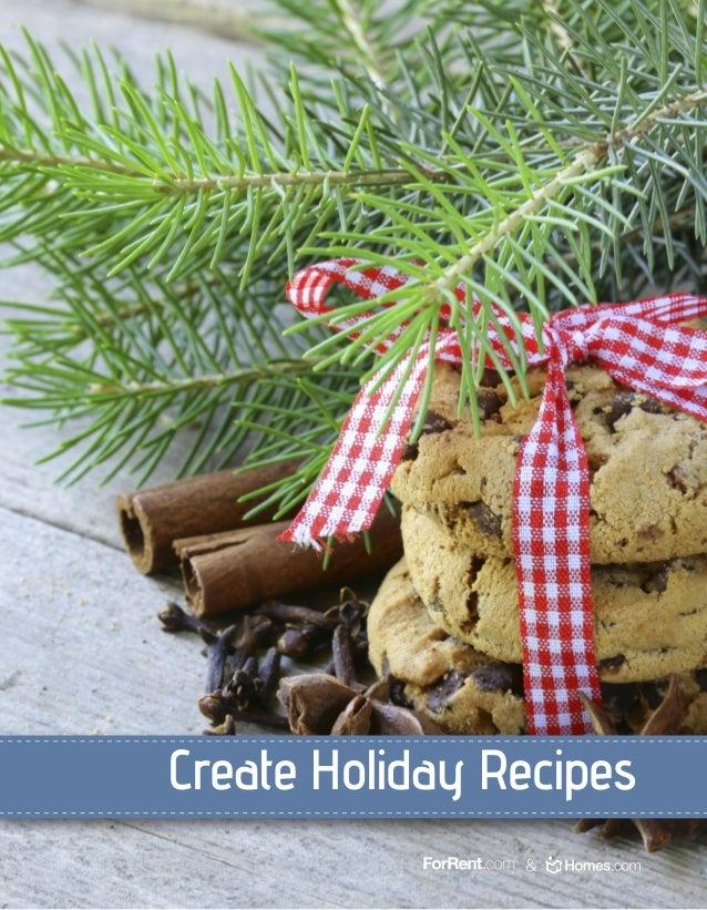 Create Holiday Recipes &