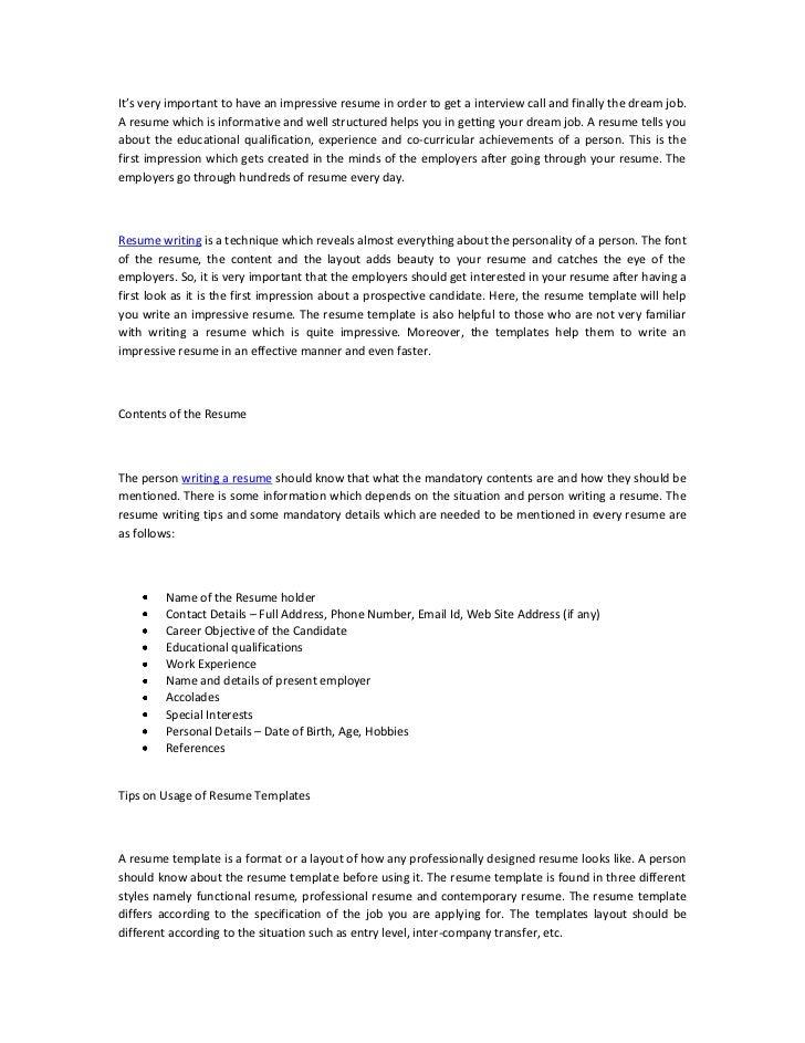 Creating a resume using microsoft word 2007