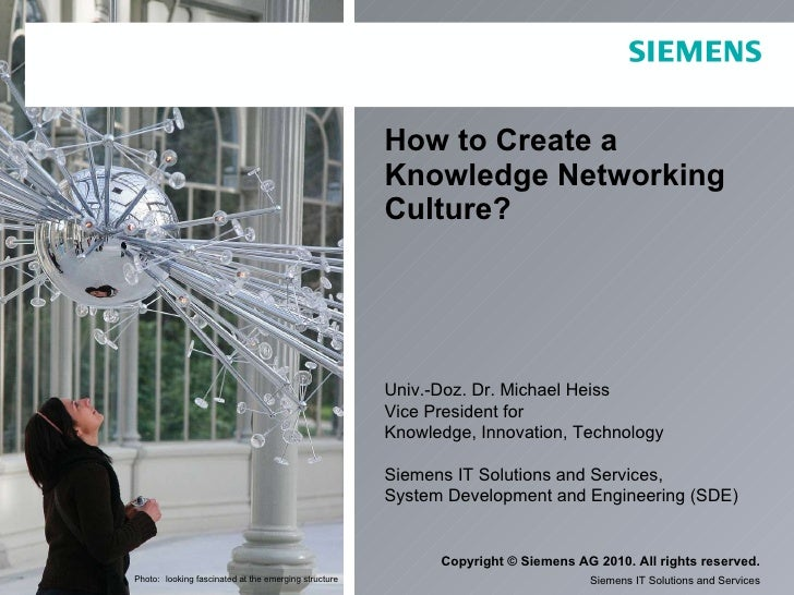 How to Create a Knowledge Networking Culture? Univ.-Doz. Dr. Michael Heiss Vice President for  Knowledge, Innovation, Tech...