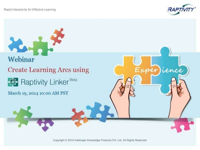 Webinar - Create Learning Arcs using Raptivity Linker