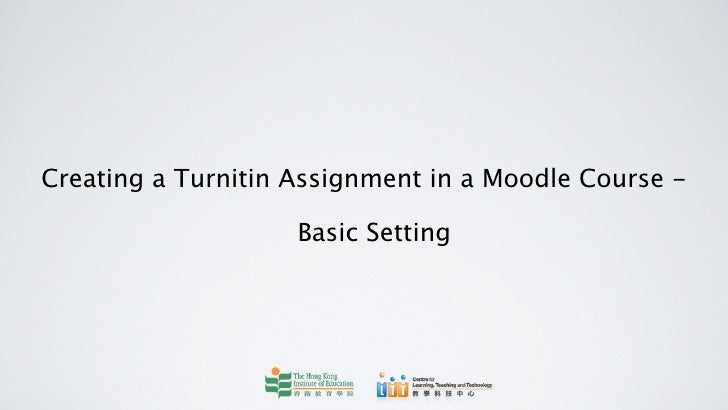 Create Turnitin Assignment in Moodle (Basic)