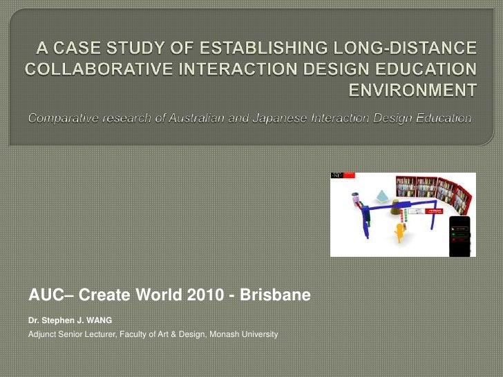 Create World 2010 Conference Presentation