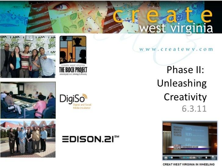 Phase II:  Unleashing Creativity 6.3.11