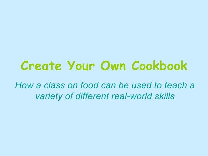 Cookbook class Try #2