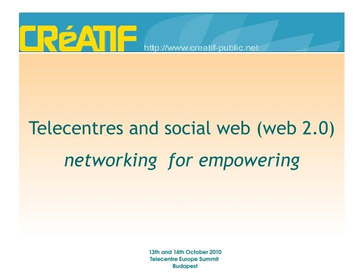 Creatif telecentre web20
