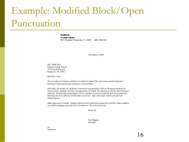 Personal Business Letter Block Format Mixed Punctuation