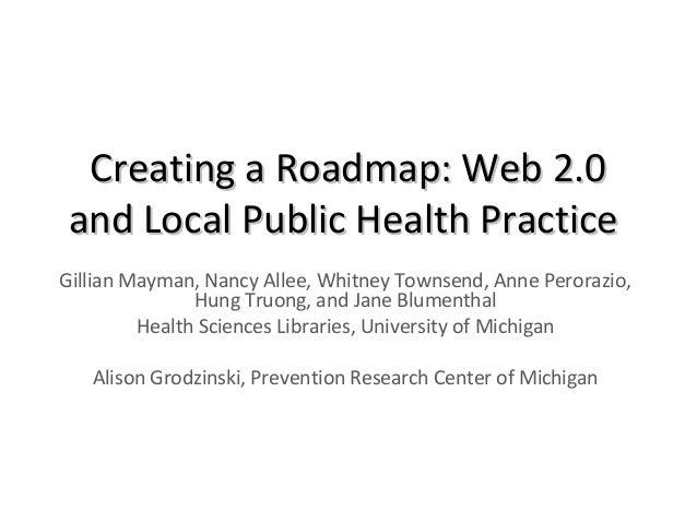 Creating a Roadmap: Local Public Health 2.0