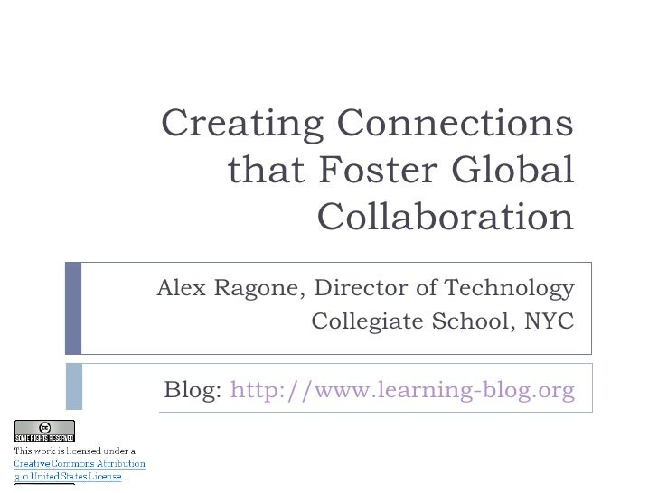 Creating Connections that Foster Global Collaboration