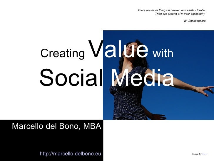 Creating Value With Social Media