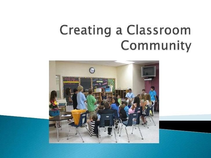 Creating a Classroom Community<br />