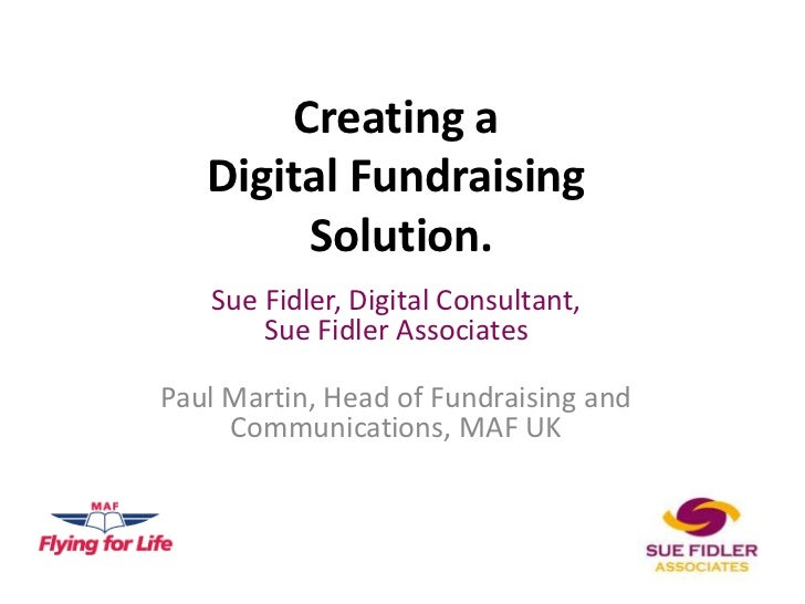 Creating a digital fundraising solution
