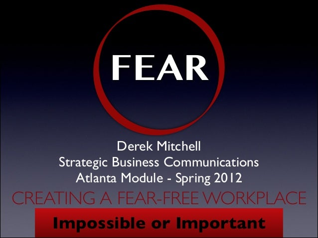 Creating a Fear-Free Workplace