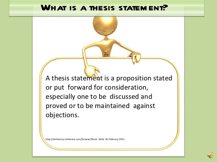 help forming a thesis statement