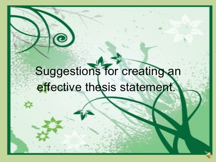 Thesis statement placement