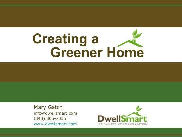 Creating A Greener Home
