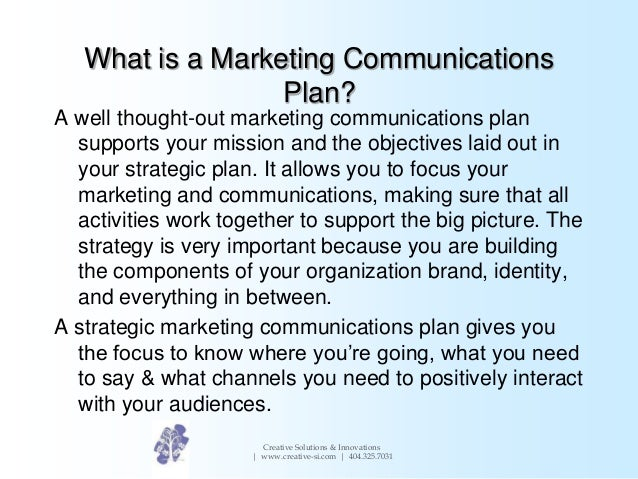 Study blog marketing communication plan for Marketing communication plan template example