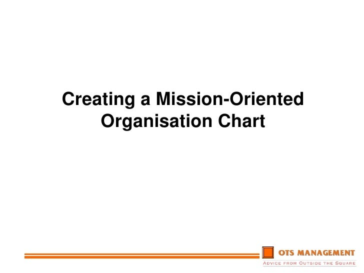 Creating A Mission Oriented Organisation Chart