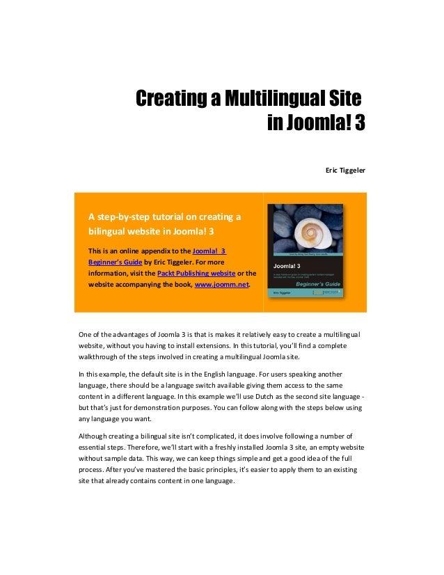 Creating a Multilingual Site                                   in Joomla! 3                                               ...