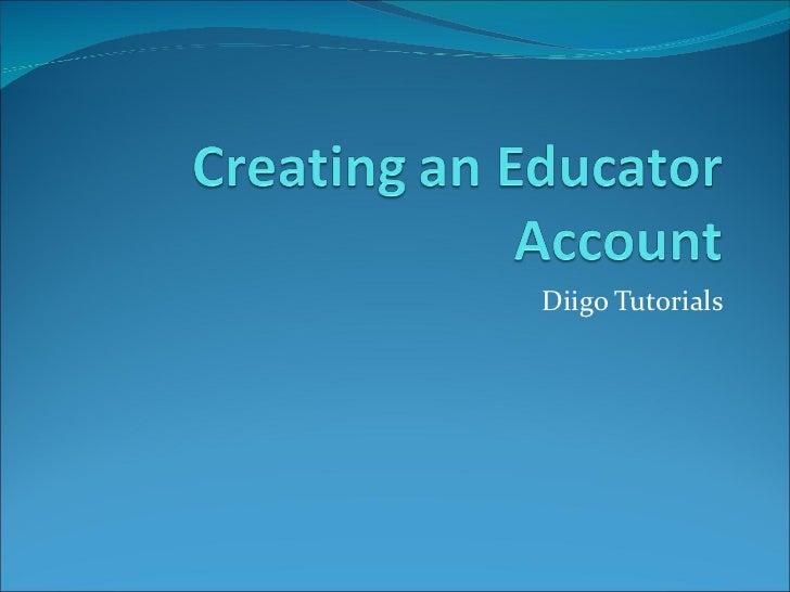 Creating an account (diigo)