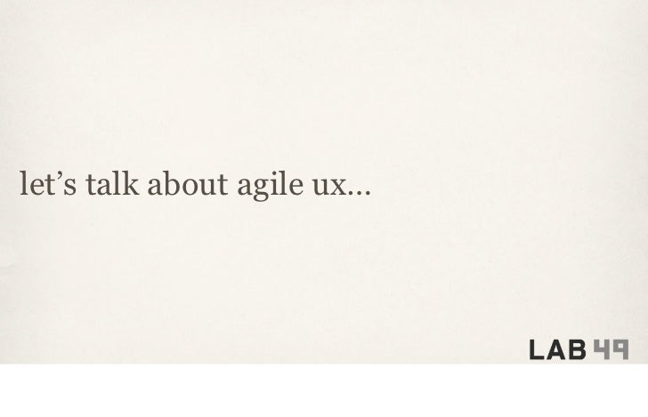 Creating an Agile UX Manifesto at IA Summit 2011