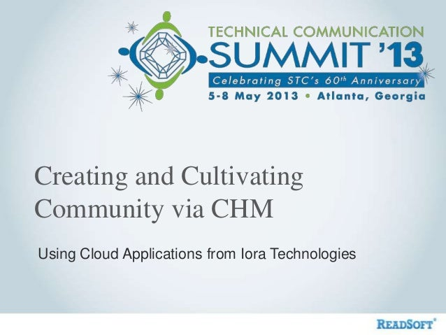 Creating and cultivating community via chm