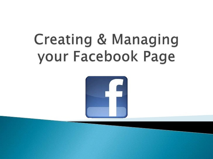 Creating and managing your facebook page