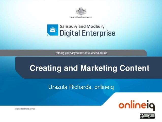 Urszula Richards, onlineiq Salisbury and Modbury Creating and Marketing Content