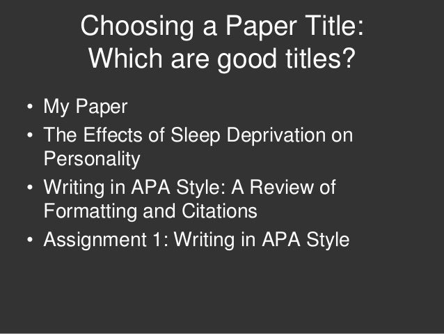 Good psychology papers