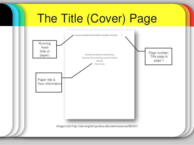 cover sheet format apa