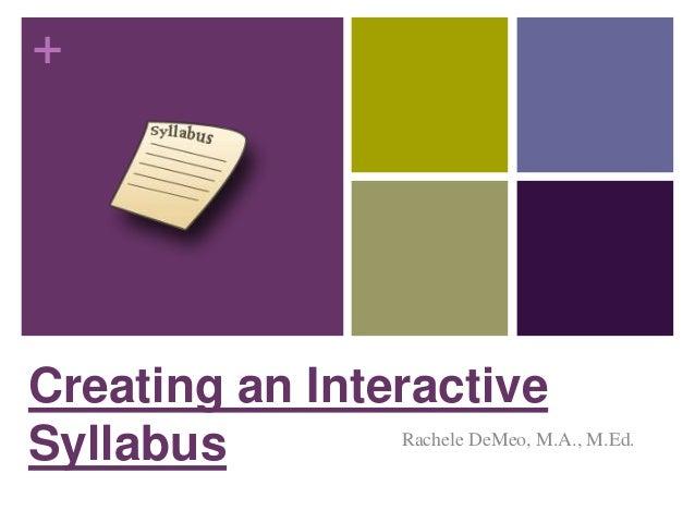 Creating an interactive syllabus