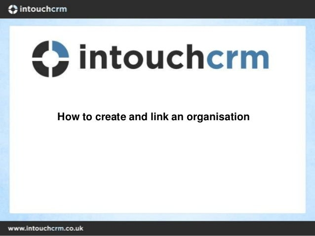 How to create and link an organisation