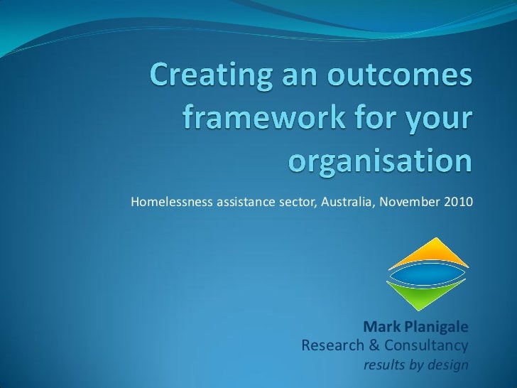 Creating an outcomes framework for your organisation