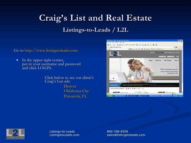 Creating A Powerful Lead Generating Craigs List Property Ad