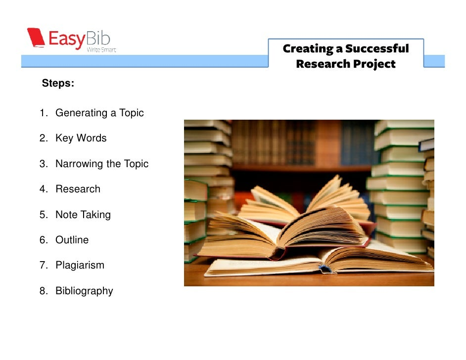 Creating a Successful                           Research ProjectSteps:1. Generating a Topic2. Key Words3. Narrowing the To...