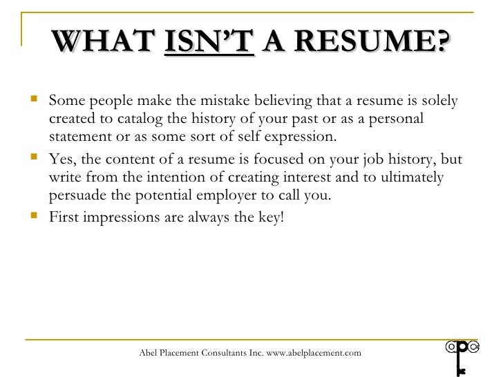 creating a resume