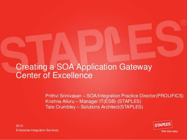 Creating a SOA Application Gateway Center of Excellence