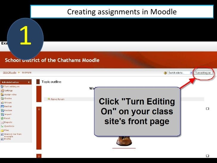 Creating assignments in Moodle   1