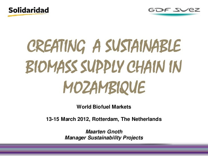 Creating a sustainable biomass supply chain in mozambique   maarten gnoth gdf suez