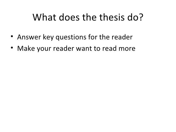 Thesis statement for a narrative essay