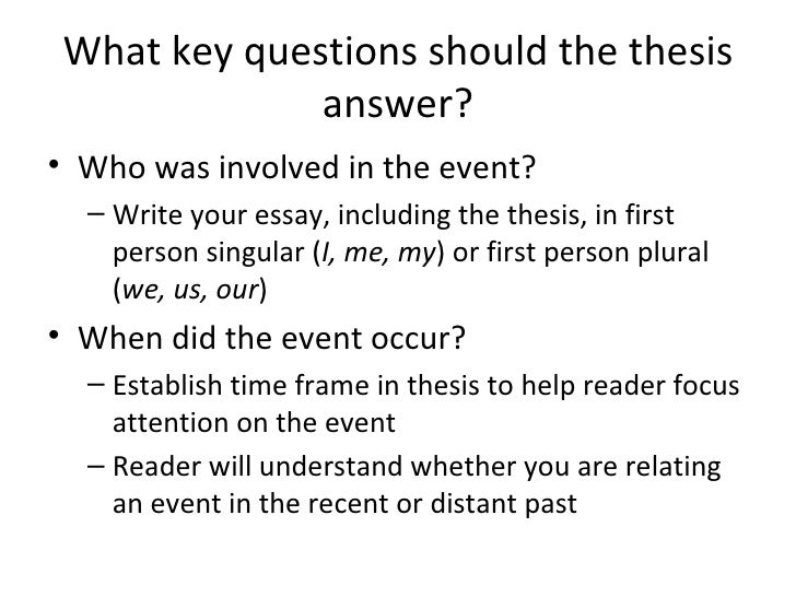 How to write a thesis statement for a descriptive essay