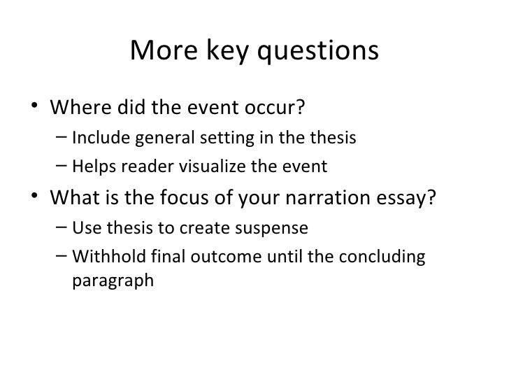 Good Thesis Statement Narrative Essay