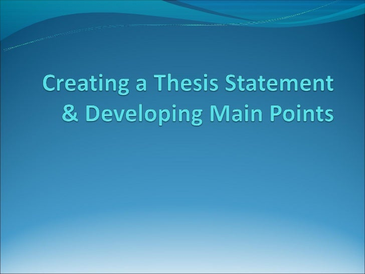 speech thesis statement