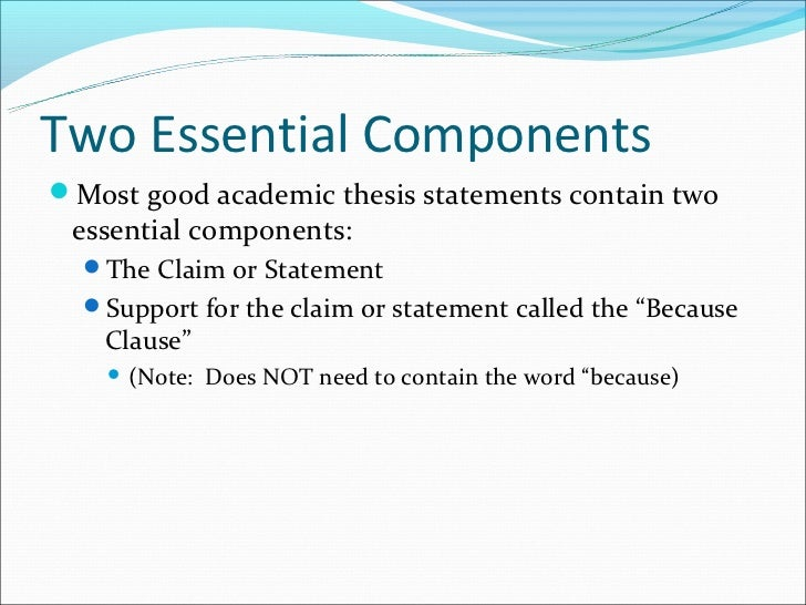 what are some good characteristics of a thesis statement When it is time to write a thesis statement  a paper that strays greatly or frequently from the thesis will lose readers qualities of a good thesis statement.