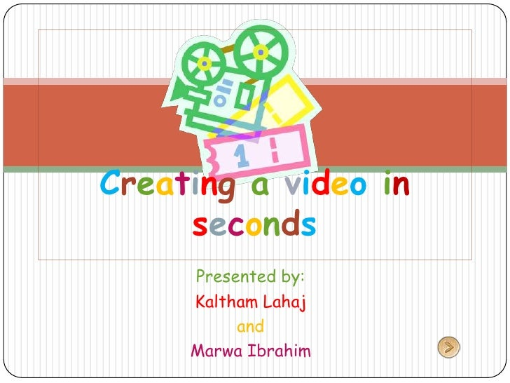Creating a video in seconds