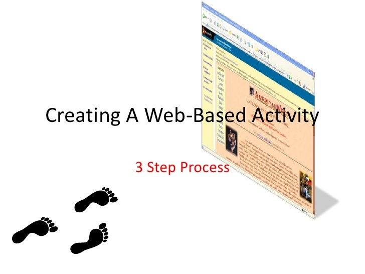Creating A Web-Based Activity<br />3 Step Process<br />